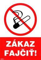 4200 3 S Zákaz fajčiť A5 / samolepka
