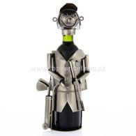 96937 Kovový stojan na víno, motív golfista