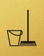 Štítok na dvere zlatý zo symbolom