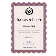 Certifikát 2 180g papier A4/ 20 ks