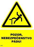 I 1546 S Pozor nebezpečenstvo pádu ! A5 samolepka