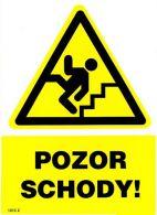 1313 2 S Pozor schody ! A5 samolepka