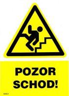 I 1770 S Pozor schody ! A6 samolepka