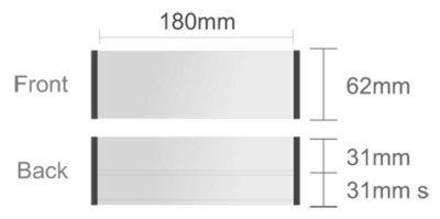 Menovka stolová profil 1 + 1h+1z