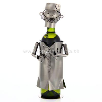 97996 Kovový stojan na víno, motív zubár